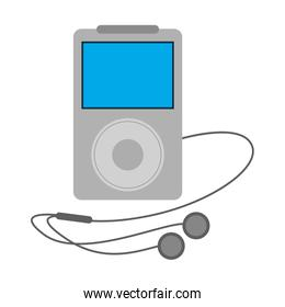 portable music player with earphones icon image
