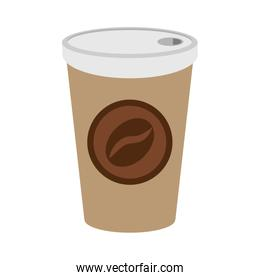 coffee in disposable cup icon image