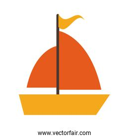 sailboat with flag icon image