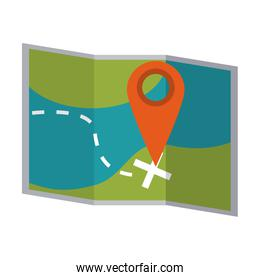 map with location pin icon image