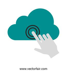 cursor clicking on cloud storage icon image