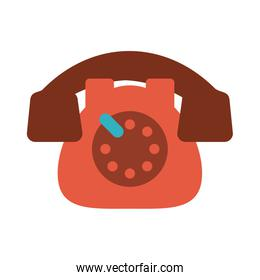 red rotary phone vintage icon image
