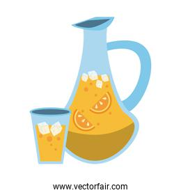 jug filled with citrus beverage icon image
