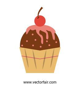 cupcake with cherry icon image