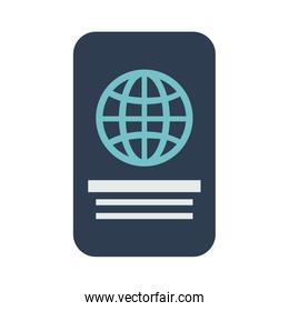 closed passport  out icon image
