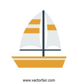 sailboat on water icon image