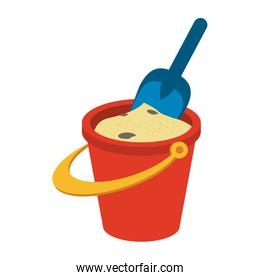 bucket with sand icon image