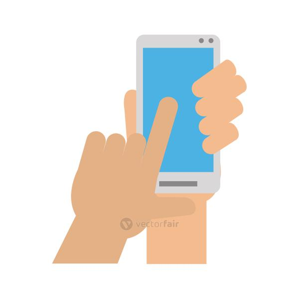 hand with smartphone icon image vector illustration design