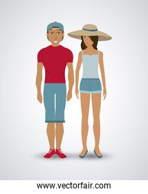 Couple of humans design