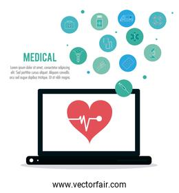 Medical care and technology, Vector illustration