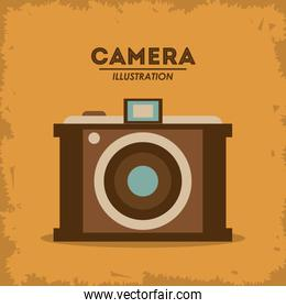 Retro camera design, Vector illustration