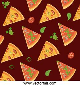 Pizza slices background