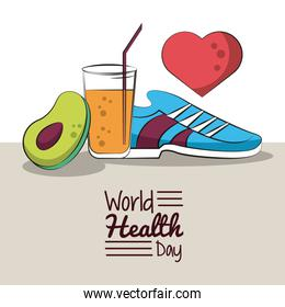 World healthy day card