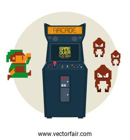 Retro videogame arcade machine