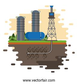 Oil industry and machinery splash design