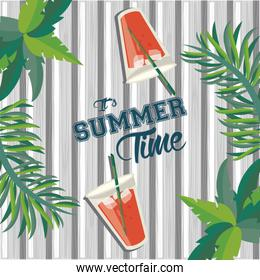 Summer time card and poster