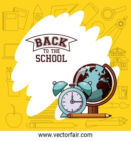 Back to school season card and poster