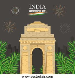 India independence day card colorful