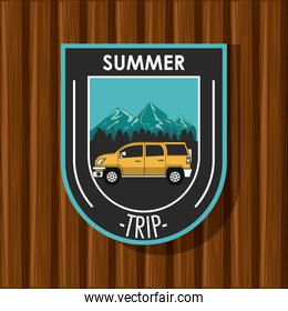 Camping explore summer patch emblem