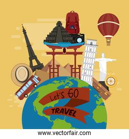 travel journey and tourism places