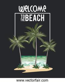 Welcome to the beach summer card