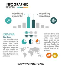 Infographic icon design , vector illustration