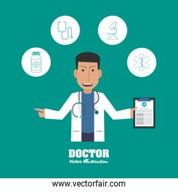 Doctor design, medical and healthcare concept