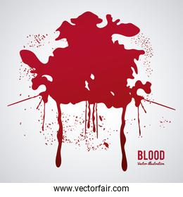 Blood design. abstract icon. Colorful illustration