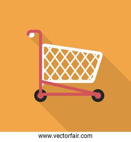 Shopping cart design. commerce and store icon, graphic vector