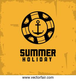 Summer design. float and anchor icon. vector graphic