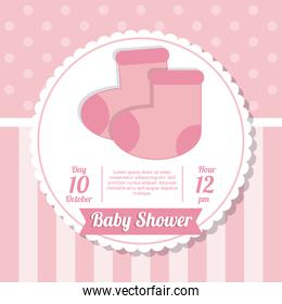 Baby Shower design. sock icon. vector graphic