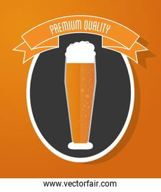Beer glass icon. Drink and beverage design. Vector graphic