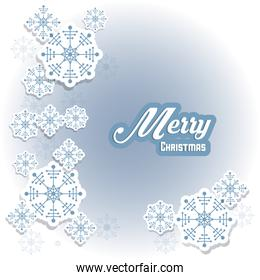 Snowflake icon. Merry Christmas design. Vector graphic