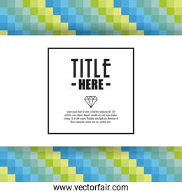 Pixel icon. Cover background. Vector graphic