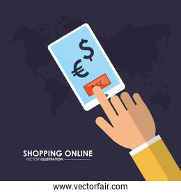 shopping online in smartphone
