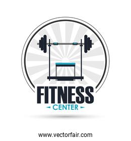 weight icon. Fitness design. Vector graphic