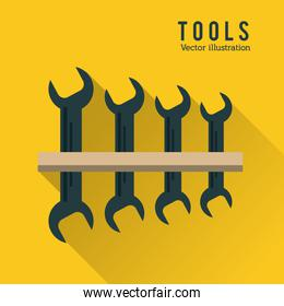 Wrench set tool icon. Repair concept. Vector graphic
