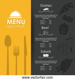 menu restaurant kitchen icon. Vector graphic