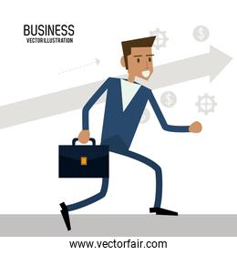 Businessman male business icon. Vector graphic