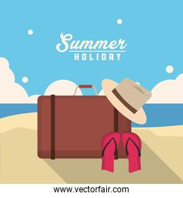 bag summer holiday vacation icon. Vector graphic