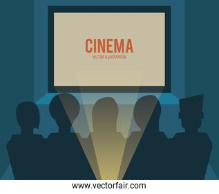movie film cinema room icon. Vector graphic