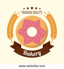 donut bakery food icon. Vector graphic