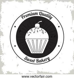 muffin bakery food icon. Vector graphic