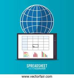 Spreadsheet tablet global design