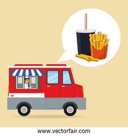 soda french fries and fast food banner
