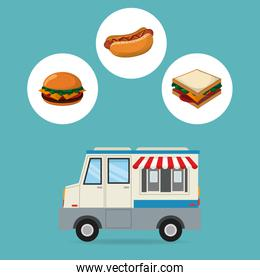 truck and fast food design