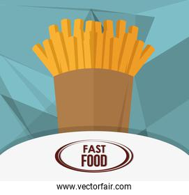french fries and fast food design