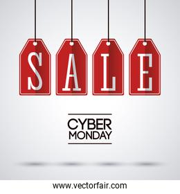 Sale labels and cyber monday design