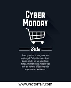 Shopping cart and cyber monday design