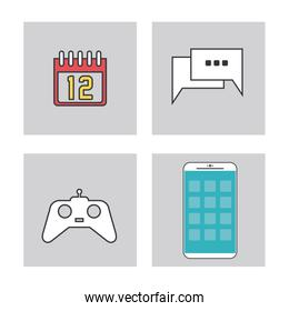 Apps and frames icon set